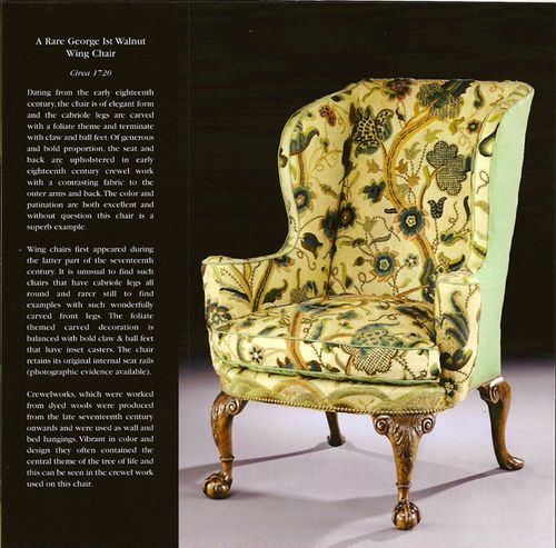 Crewel Wing Chair