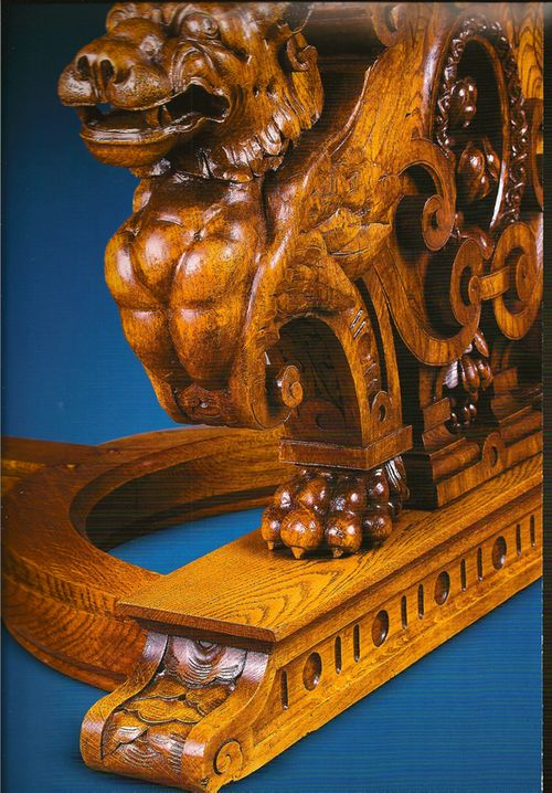 Detail of table leg carving