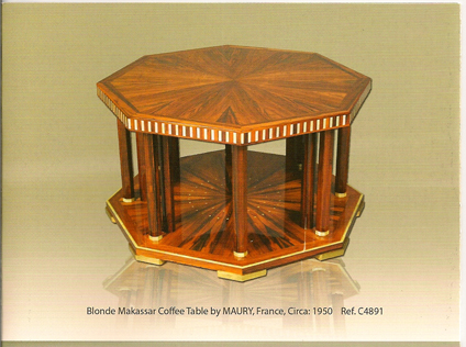 Art Deco octagular table