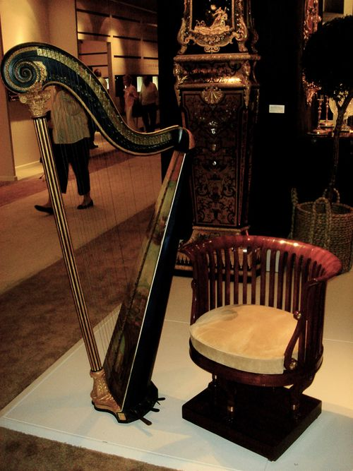 Chair and harp