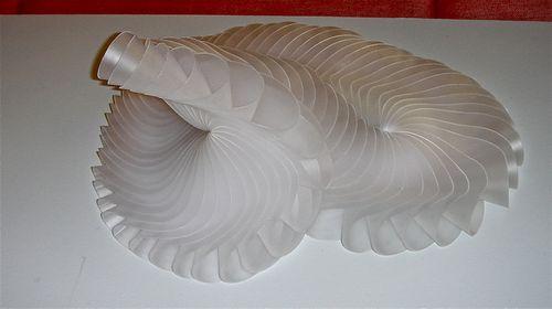 FOLDED PLASTIC HELIX