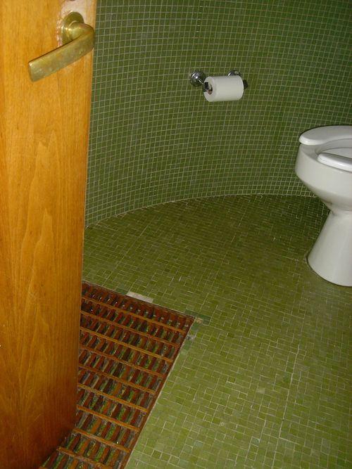 Glass House Toilet w:secret passage