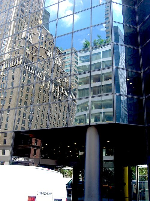 Refletions in glass building