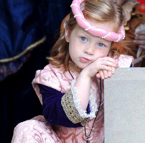 Blue eyed little girl