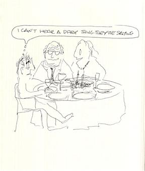The dinner conversation