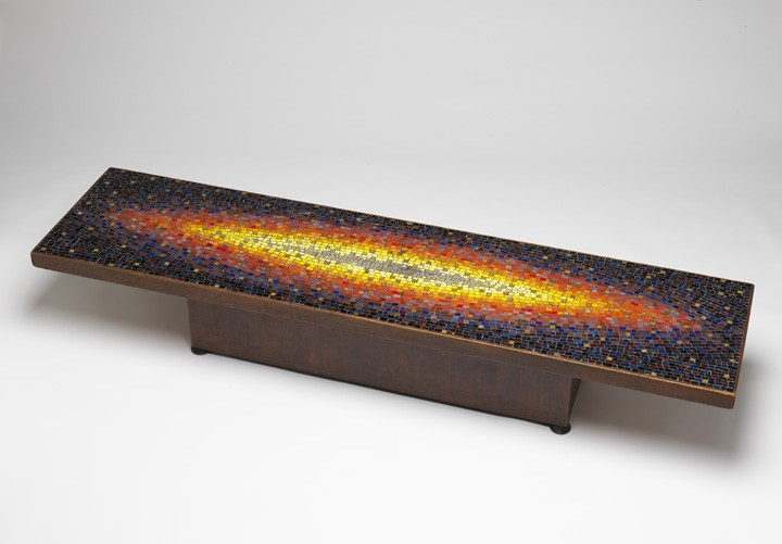 While I Was Best Known For My Amorphous Sculptured Chairs And Tables, This  Trim Architecturally Inspired Mosaic Coffee Table Represented The Flip Side  Of My ...