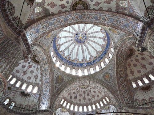 BLUE MOSQUE CEILING 1