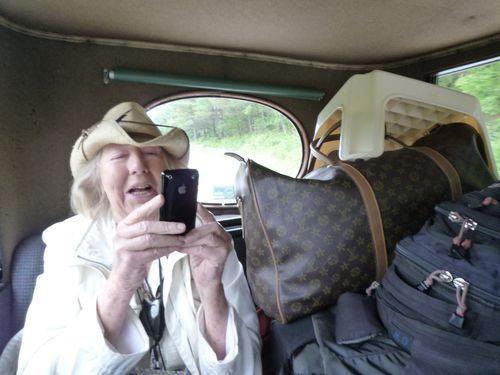ERICA IN BACK OF CAR