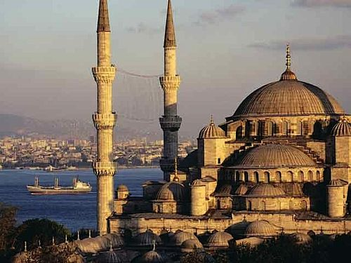 Blue Mosque and the Bosphorus_ Istanbul_ Turkey