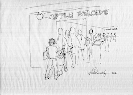 APPLE STORE CARTOON
