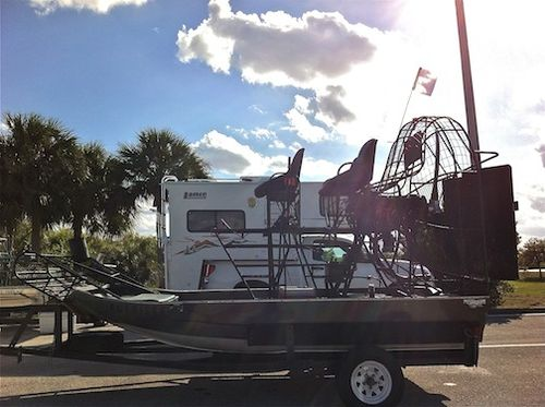 Airboat on trailer