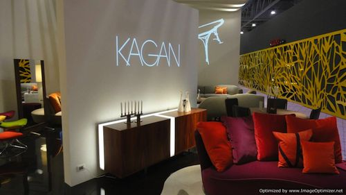 Kagan with Crescent sofa & light cabinet