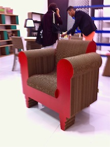 CORREGATED CARDBOARD CHAIR