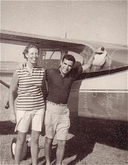 Erica & Vladi as pilot Nantucket1967