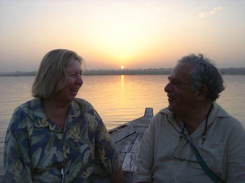 India Gange river sunset