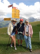 Swiss alps Erica me and Astrid
