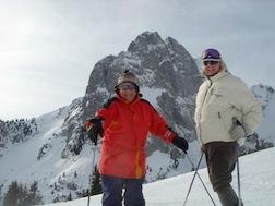 Swiss E & me skiing