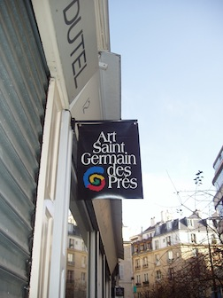 Paris gallery sign
