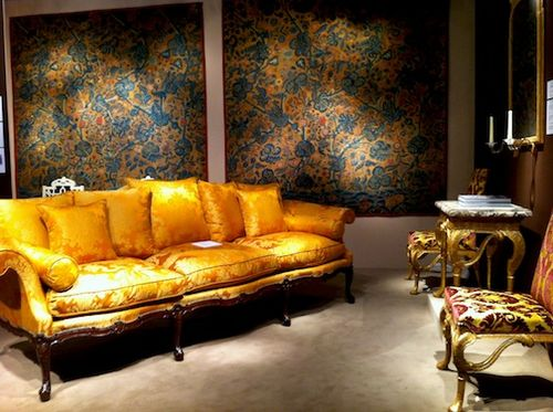Orange couch room