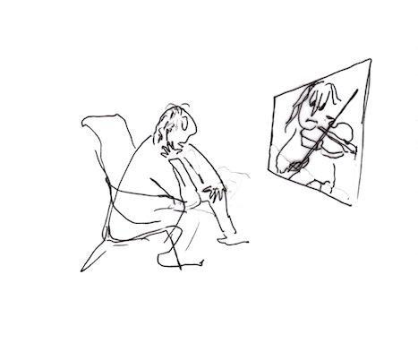 Violinist cartoon