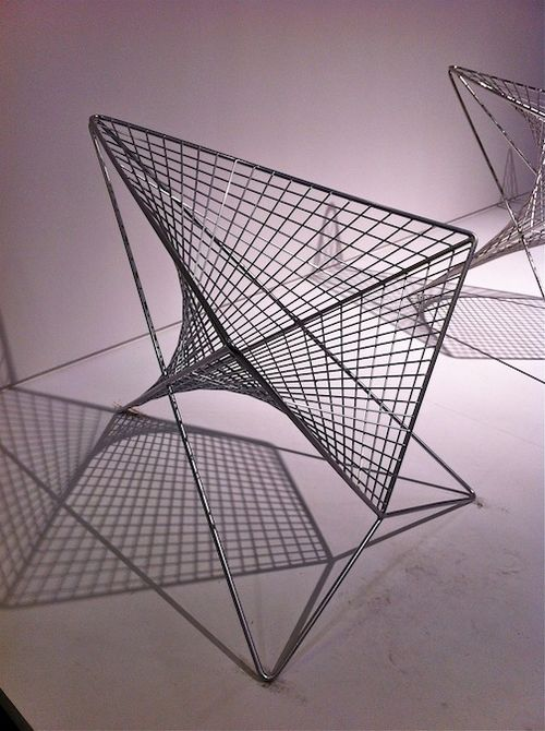 Wire chair 7%22