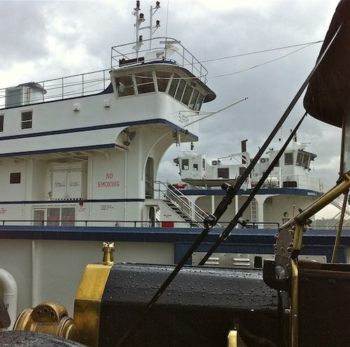 STORM FERRIES A T AT DOCK 7