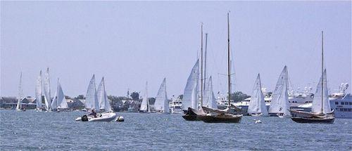Fleet gathering in harbor