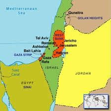 Map Israel & Palestine