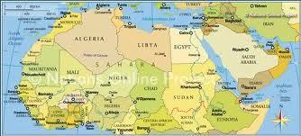Map Africa etc.
