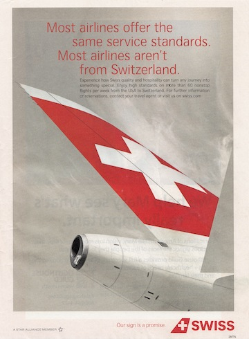Swiss Air add 5