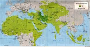 Map Islamic world