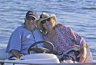 E & ME ON BOAT HAT  7