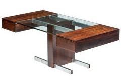 Rosewood glass deesk $18000 adam Edelberger
