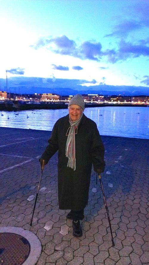 Me walk lake night 7