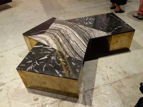 BRONZE MARBLE TABLE 7