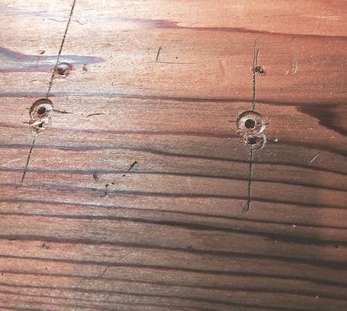 Wood w holes 7
