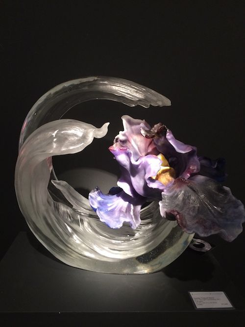 GLASS CRESCENT WFLOWERS 7