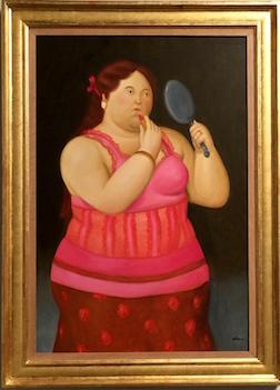 BOTERO GIRL W.LIPSTICL 3.5